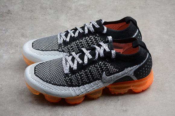 Nike Air Vapormax Flyknit 2.0 Safari White Black Total Orange Men Shoes Sneakers 942843-106
