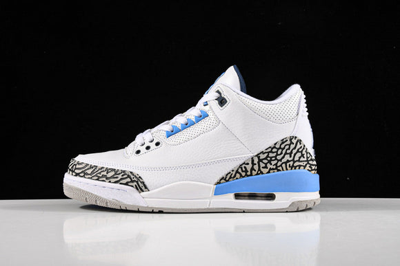 Nike Air Jordan 3 Retro UNC White Valor Blue Tech Grey Men Shoes Sneakers Size 40-47.5 / 7-13.5 CT8532-104