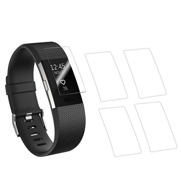 5pieces Anti-scratch Ultra Thin HD Clear Protective Film Guard For Fitbit Charge 2 Charge2 Wristband Full Screen Protector Cover - 88digital