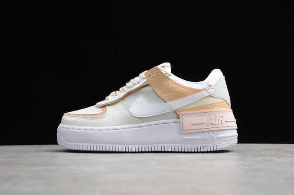 NIKE AIR Force 1 Shadow Spruce Aura Sail Black White / Cream Ice Cream Women Shoes Sneakers CK3172-002