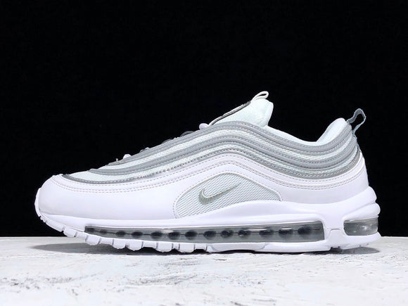 Nike Air Max 97 LX Triple All White White White Reflect Silver Wolf Grey Men Women Running Shoes Size 36-45 / 5.5-11 921826-101