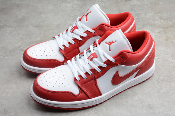 Nike Air JORDAN 1 Low Gym Red White Men Women Shoes Sneakers 553558-611