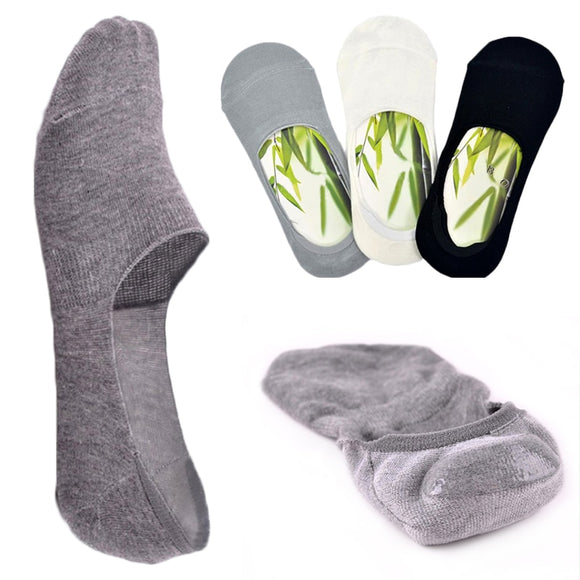 6pcs=3Pair/lot Fashion Happy Men Boat Socks Summer Autumn Non-slip Silicone Invisible Cotton Socks Male Ankle socks - 88digital