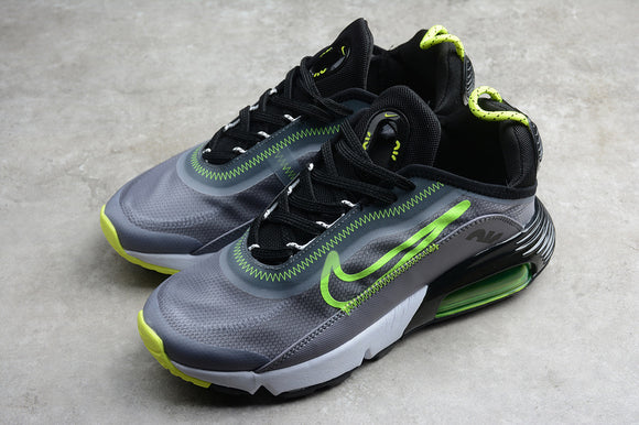 Nike AIR MAX 2090 Silver Grey Black Fluorescent Green Men Women Shoes Sneakers CT7698-011