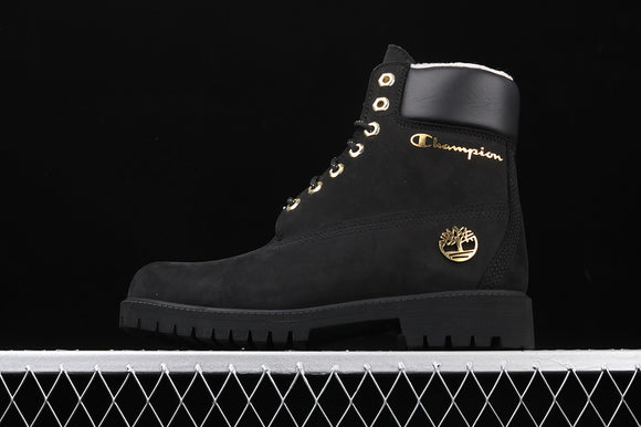TIMBERLAND MEN WOMEN Classic Hommes All Black Nubuck Champion 6 inch Premium Boots Waterproof TB0A1UD3001