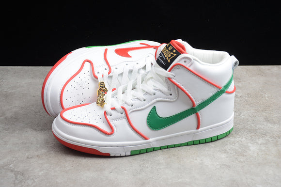 NIKE SB DUNK High Paul Rodriguez Mexican Boxing White Red Green Gold Men Women Shoes Sneakers Size 36-45 / 5.5-11 CT6680-100
