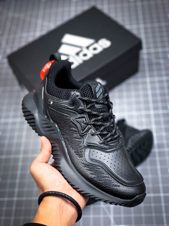 Adidas ALPHABOUNCE Beyond All Black Black Black Men's Women's Shoes Sneakers