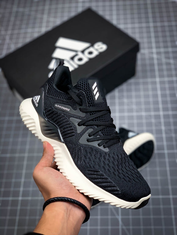 Adidas ALPHABOUNCE Beyond Black White Men's Women's Shoes Sneakers