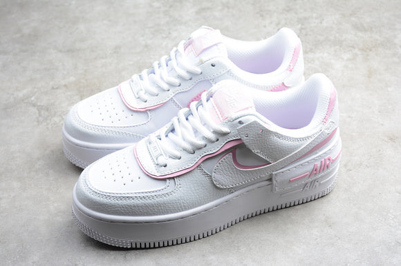 NIKE AIR Force 1 Shadow White Magic Flamingo / White Powder Women Shoes Sneakers Size 36-39 / 5.5-8 CI0919-102