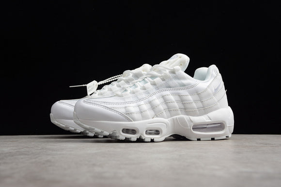 Nike AIR MAX 95 OG Triple All White White White Women Shoes Sneakers 307960-108