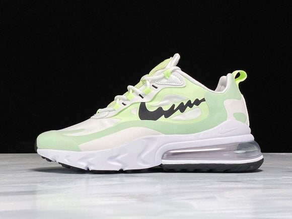 Nike Air Max 270 React White Light Green Volt Black Men Women Shoes Sneakers AO4971-600