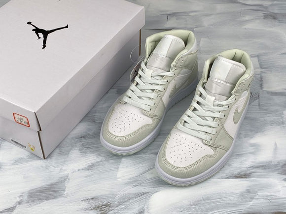 Nike AIR JORDAN 1 MID White Spruce Aura Men Women Shoes Sneakers Size 36-47.5 / 5.5-13.5 CV5280-103