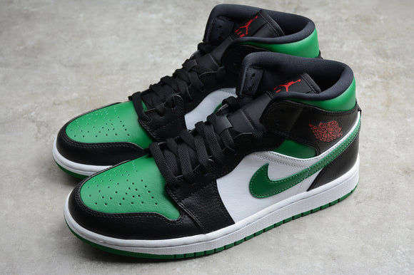 Nike Air Jordan 1 MID Green Tor Green Black White Men Shoes Sneakers Size 40-45 / 7-11 554724-067