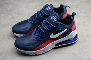 Nike Air Max 270 React Navy Blue Red White Men Women Shoes Sneakers Size 36-45 / 5.5-11 AT6174-004