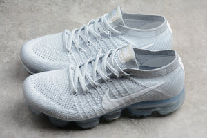Nike Air VaporMax Flyknit 2018 Pure Platinum All White Wolf Grey Men's Running Shoes Sneakers 849558-004