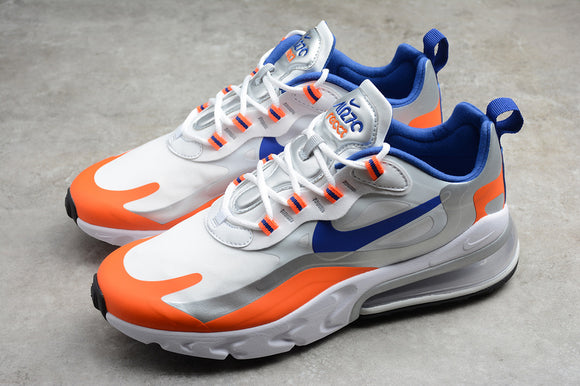Nike AIR MAX 270 React Knicks White Flash Crimson Metallic Silver Racer Blue Men Women Sneakers Shoes Size 36-45 / 5.5-11 CW3094-100