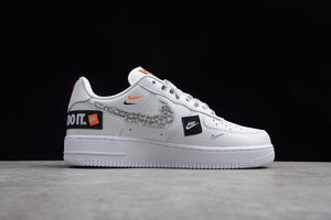 Nike Air Force 1 '07 Low PRM Just Do It AF1 White Orange Joint Name Women Sneakers Shoes AR7719-100