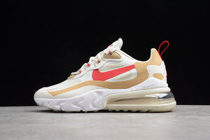 Nike Air Max 270 React Coffee Colors White Team Gold Orange Men Women Shoes Sneakers AT6174-700
