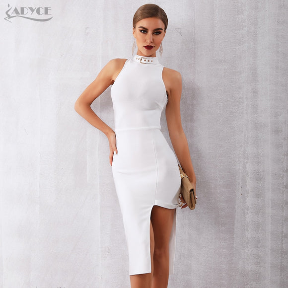 White Celebrity Runway Party Bandage Dress Women Sexy Sleeveless Black - 88digital