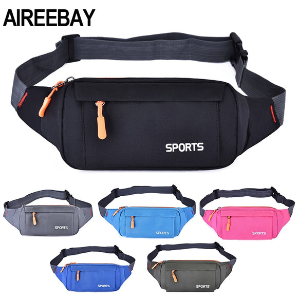 Waist Pack Women Running Waterproof Waist Bag Mobile Phone Holder Men Gym Fitness Travel Pouch Belt Pink Chest Bags - 88digital