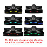 ALLOYSEED For Playstation 4 Gamepad LED Dual Charger Station Game Controller Power Supply Charging Charge Stand Dock Controller - 88digital