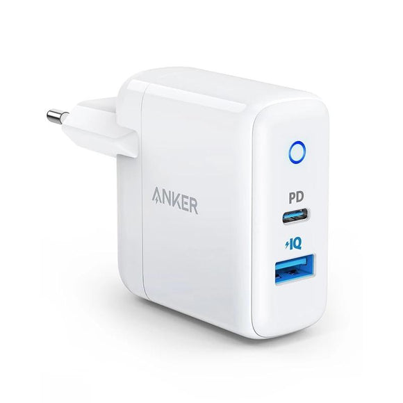 Anker 2-Port USB C Type C Wall Charger with 18W Power Delivery and 12W PowerIQ,PowerPort PD 2, LED Indicator for iPhone,iPad etc - 88digital