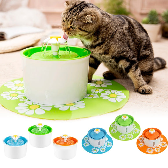 Automatic Cat Water Fountain 1.6L Electric Water Fountain Dog Cat Pet Drinker Bowl Pet Cat Drinking Fountain Dispenser - 88digital