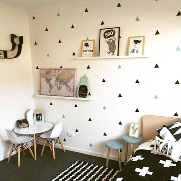 Baby Boy Room Little Triangles Wall Sticker - 88digital