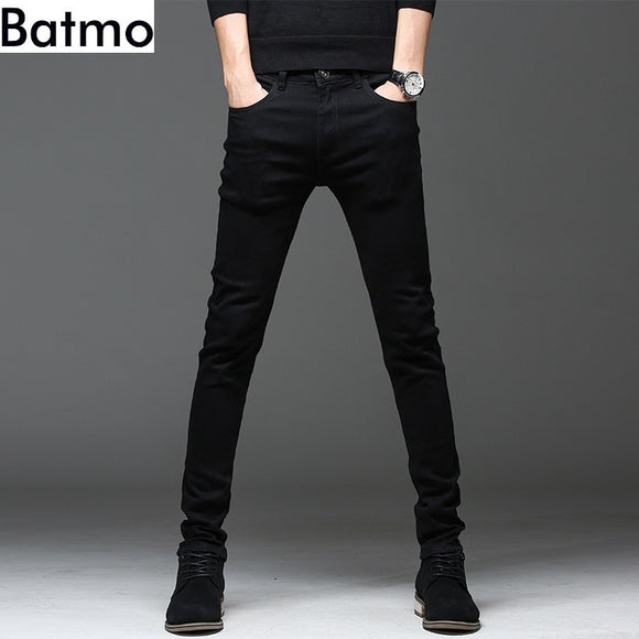 Casual slim elastic black jeans men ,men's pencil pants ,skinny jeans men - 88digital