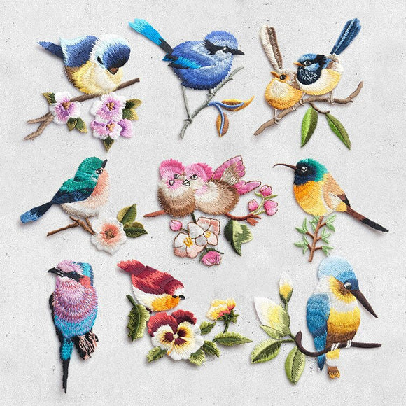 Bird Iron on Patches for Clothing Animal of The Breach Embroidery Applique DIY Hat Coat Dress Pants Accessories Cloth Sticker - 88digital
