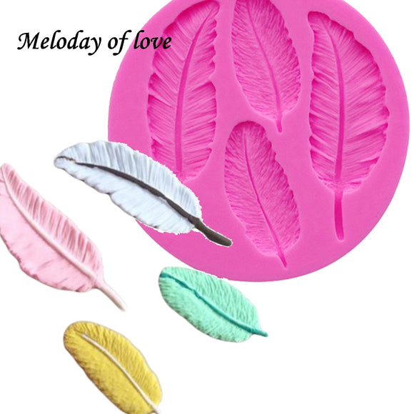 Birds Feathers chocolate cake silicone mold - 88digital