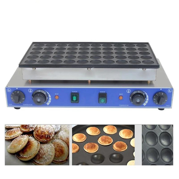 CE approved 110V/220V commercial  50 hole dorayaki machine, mini dutch pancakes, mini pancake maker Dutch Poffertjes grill - 88digital