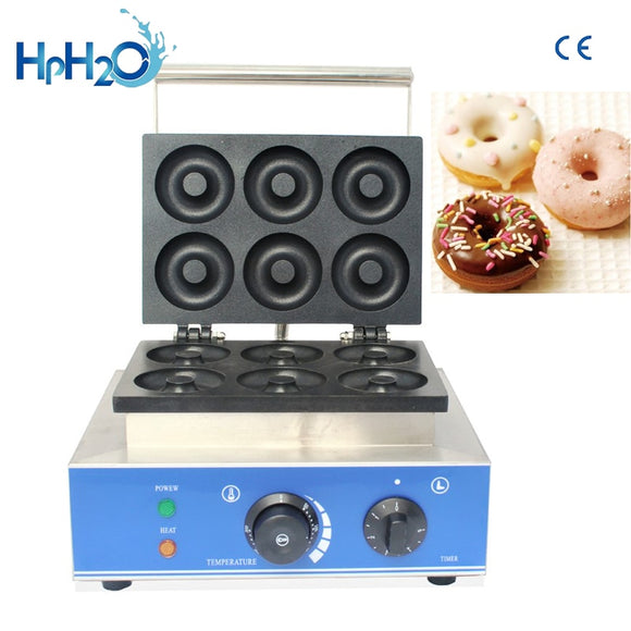 CE approved 110V/220V commercial  electric 6 holes mini donuts machine sweet donut fryer maker doughnut maker machinery - 88digital