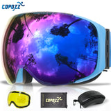 Magnetic Ski Goggles with 2s Quick-change Lens and Case Set UV400 Protection Anti-fog Snowboard Ski Glasses for Men Women - 88digital