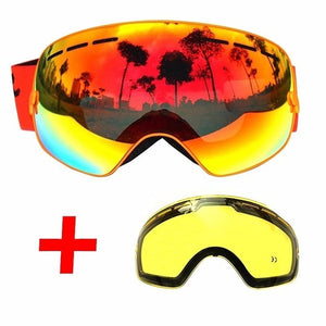Ski Goggles Double Layers UV400 Anti-fog Big Ski Mask Glasses Skiing Men Women Professional Snow Eyewear - 88digital