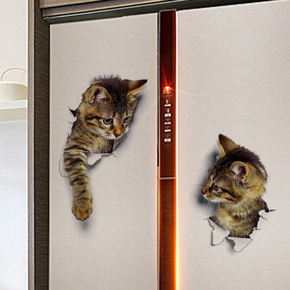 Cartoon Animal Cute Cats Stickers 3d Stickers for Refrigerator - 88digital