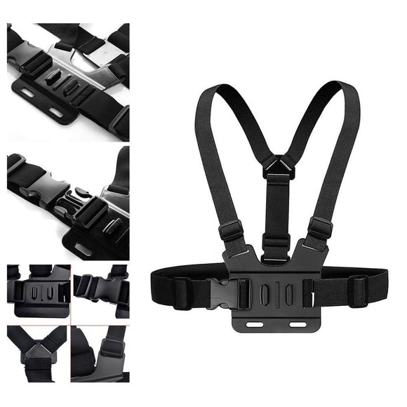 Chest Strap mount belt for Gopro hero 7 6 5 Xiaomi yi 4K Action camera Chest Mount Harness for GoPro SJCAM SJ4000 sport cam fix - 88digital