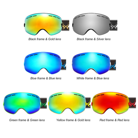 Children Ski Goggles UV400 Anti-fog Double Layers Skiing Mask Glasses Snowboard Skating Windproof Sunglasses Kids Skiing Goggles - 88digital