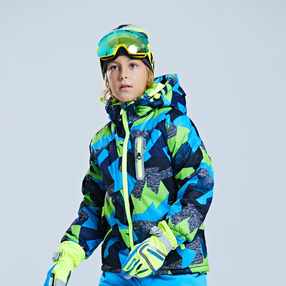 Children's Ski Jacket Thickened Boy's Outdoor Suit Warm and Cold-proof Ski Dress Girl's Mountaineering Dress Waterproof Winter - 88digital