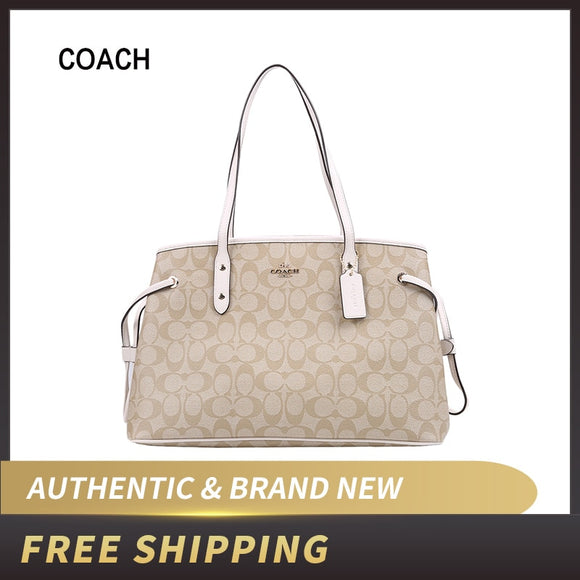 Original Authentic Coach Signature Drawstring Carryall Shoulder Bag F57842 ship by USPS USA - 88digital