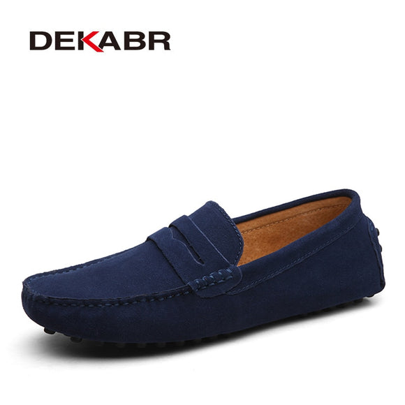 Size 49 Men Casual Shoes Fashion Men Shoes Genuine Leather Men Loafers Moccasins Slip On Men's Flats Male Driving Shoes - 88digital