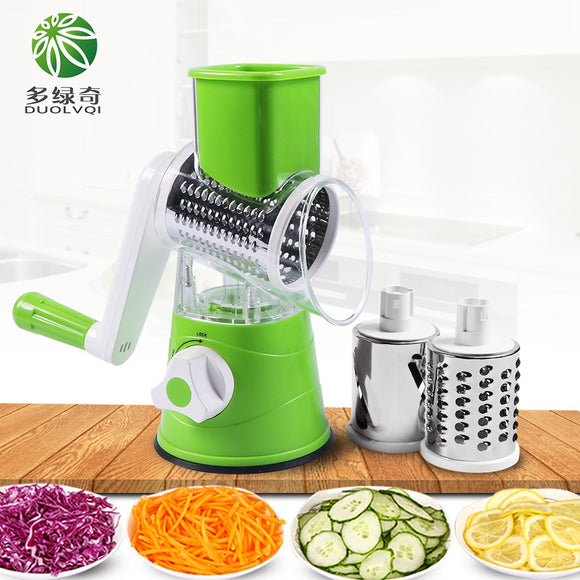 Vegetable Cutter Slicer Multifunctional Round Mandoline Slicer Potato Cheese Kitchen - 88digital