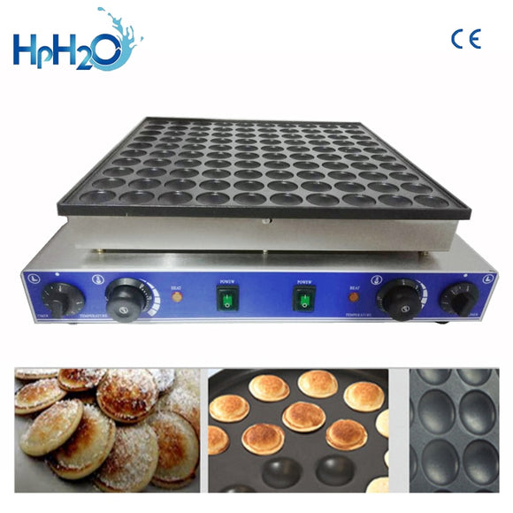 100 Holes Commercial biscuit Dutch poffertjes Grills mini pancake waffle maker baker machine - 88digital