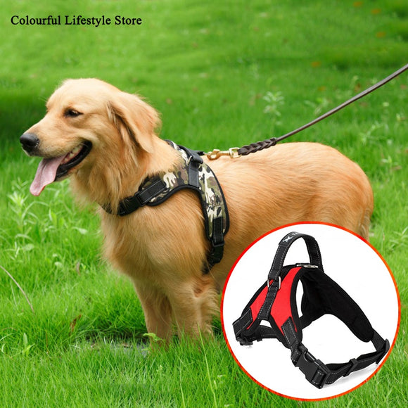 Dog Vest Nylon Bungee Leash Lead Training Running Small Large Dog German Shepherd Bulldog Adjustable Anti-collision Vest Harness USA - 88digital