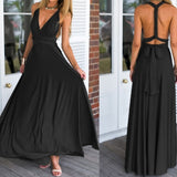 Dress Women 2019 Long Summer Convertible Bohemian Dresses Casual Bandage Evening Prom Club Party Infinity Multiway Maxi Dresses - 88digital