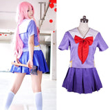Diary Gasai Yuno Mirai Nikki School Uniform Cosplay Costume Suit Wig - 88digital