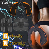 EMS Hip Trainer Muscle Stimulator ABS Fitness Buttocks Butt Lifting Buttock Toner Trainer Slimming Massager Unisex - 88digital