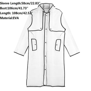 EVA Transparent Raincoat Long Raincoat for Women Waterproof Jacket Windbreaker Rain Poncho With Belt Outdoors capa de lluvia - 88digital