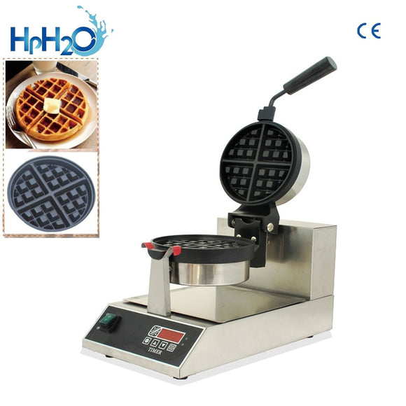 Electric Single Head LED digital Rotary Waffle Maker Rotating Waffle machine Belgian Waffle Maker cake oven machine FREE UPS/FEDEX/DHL SHIPPING - 88digital