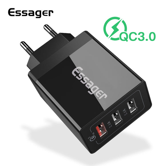 Essager 30W Quick Charge 3.0 USB Charger QC3.0 QC 4.0 Fast Charging Multi Plug Mobile Phone Charger for iPhone Samsung Xiaomi Mi - 88digital